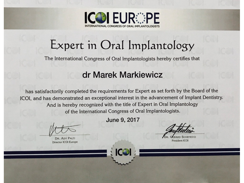 Expert in Oral Implantology Marek Markiewicz