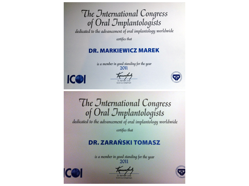 Implantology member of the ICOI